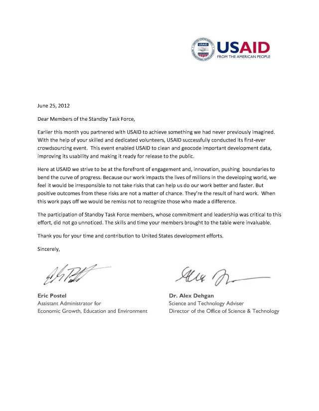 USAID Thank you